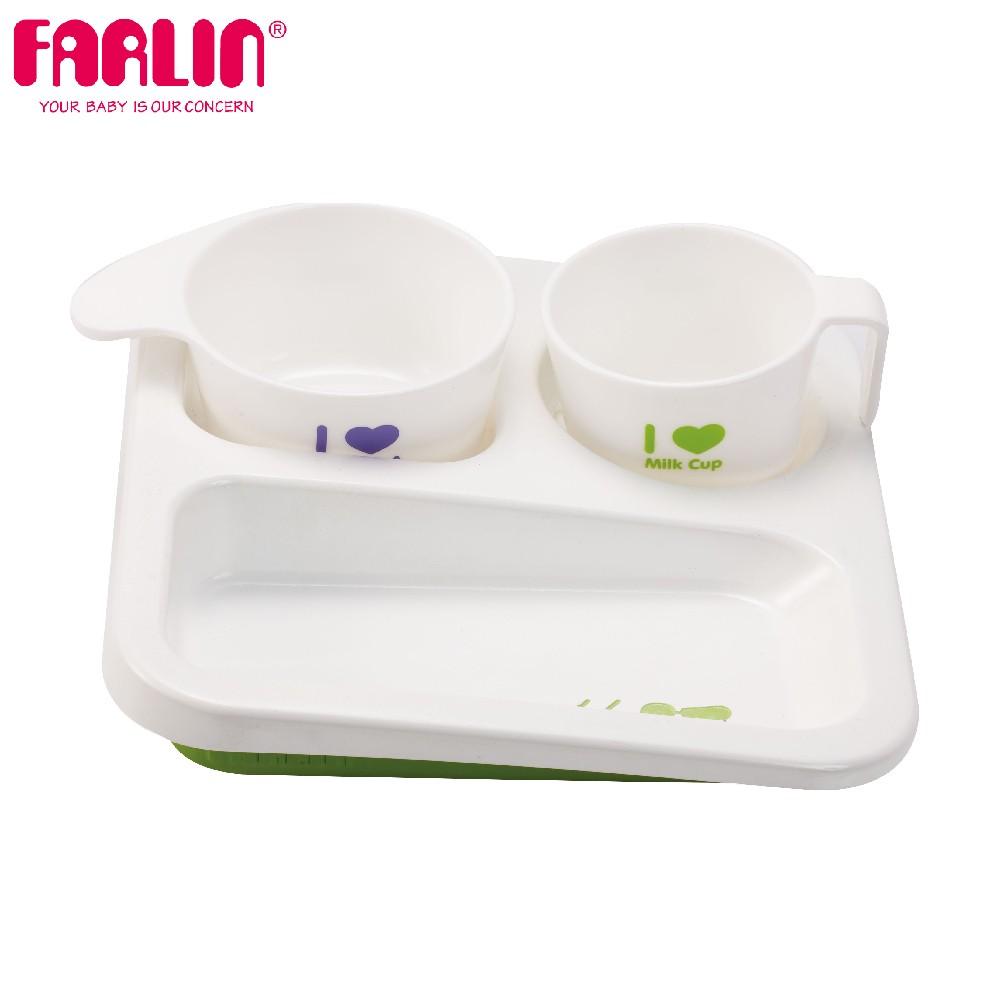 兒童學習高低餐盤組(附餐碗/綠)