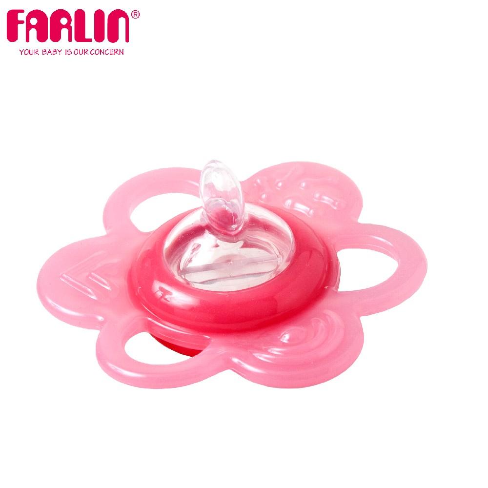 小花可換水矽膠固齒器(一階6-16m/粉)