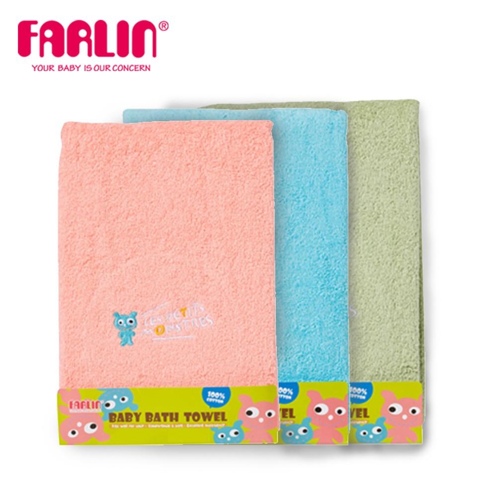 兒童100%純棉浴巾(小怪獸)(藍)