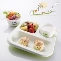 兒童學習高低餐盤組 (附餐碗/三色)