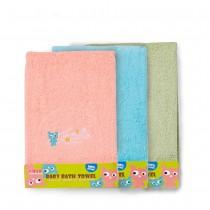 兒童100%純棉浴巾(小怪獸/三色)
